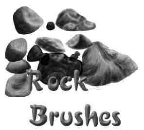 岩石石块笔刷