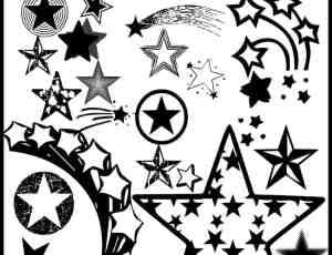 各式五角星矢量笔刷