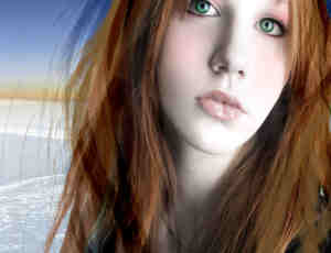 金发美女发型笔刷