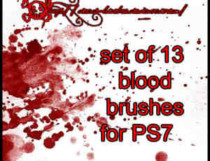 17种血液飞溅效果笔刷