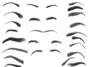 28种效果的Photoshop眉毛笔刷下载