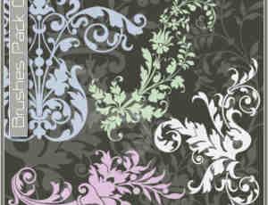 漂亮的贵族花式印花PS笔刷下载