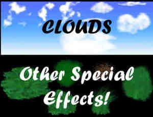 云层效果与青草效果笔刷