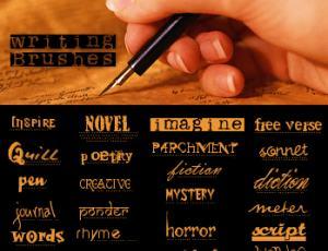 钢笔效果英文文字笔刷