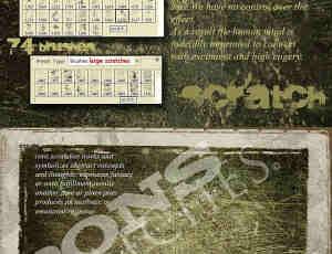 商业收费高清晰划痕刮痕PS系列笔刷