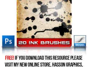 20种墨水效果笔刷