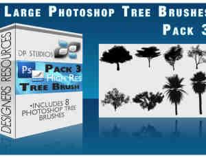 Photoshop树木笔刷V3