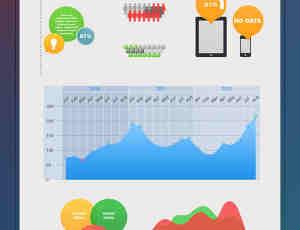 一个免费的PSD统计信息图标模版下载