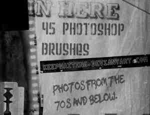 老旧照片效果笔刷