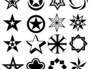 167种星型符号笔刷