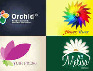 30个以花为主设计元素的Logo标志