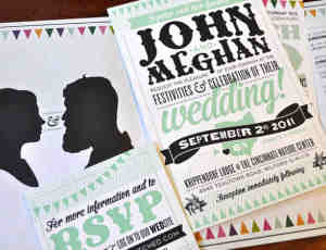 32张不同寻常的创意婚礼邀请函