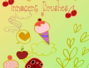 可爱冰淇淋蛋糕涂鸦笔刷