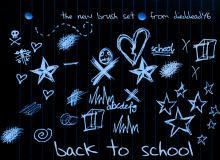学校元素涂鸦风格笔刷
