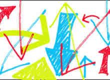 手绘线条箭头涂鸦笔刷