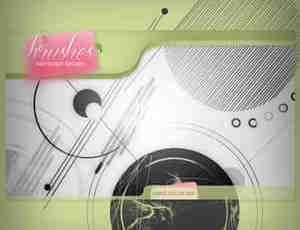 时尚科技元素线条圆圈背景笔刷