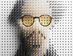 独特的木棍阴影人物肖像创作