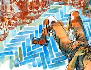 12张水彩式插画设计欣赏