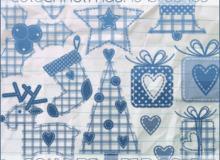 十字绣式卡通圣诞节装饰品笔刷