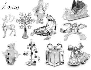 圣诞节水晶饰品礼品礼物笔刷
