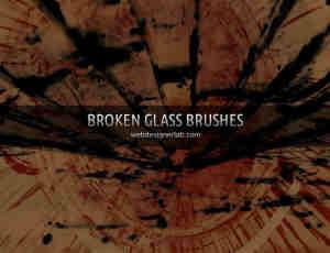 高品质破碎的玻璃效果笔刷