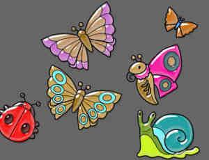 卡通昆虫笔刷下载2