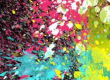 一套色彩油漆效果笔刷
