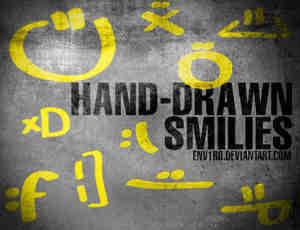 手绘的简单表情符号笔刷