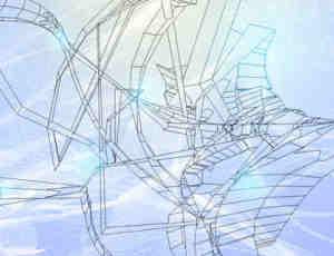 抽象的线框笔刷
