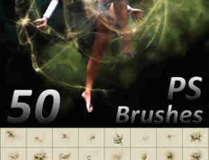 50种超清高级抽象炫光抽象笔刷下载