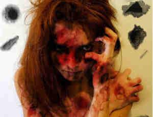 恐怖的血斑溃烂皮肤效果笔刷