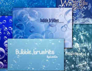 19个水泡气泡肥皂泡泡效果笔刷打包下载