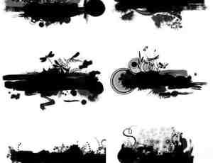 10种高清水墨花纹效果笔刷