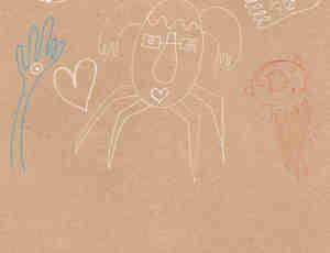儿童的涂鸦元素笔刷