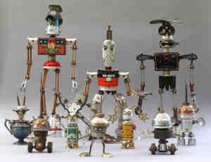 25个使用废旧材料制作的机器人艺术制品