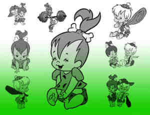 卡通婴儿摩登人笔刷
