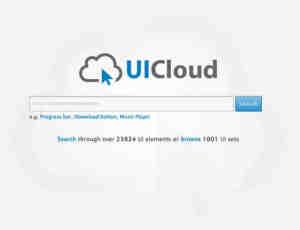 UI 素材搜尋引擎 UICloud ! 并提供免费的下载服务