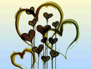 28个油漆式涂鸦爱心笔刷
