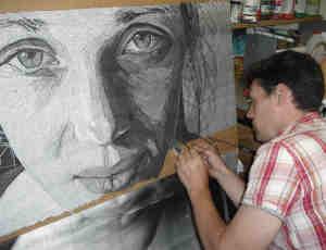 独特的文本肖像画艺术创作