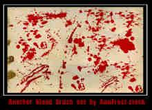 10种真实的高清血液滴溅笔刷