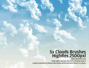 高分辨率云朵天空笔刷