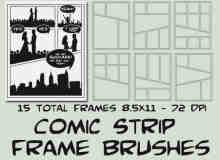 漫画画框笔刷