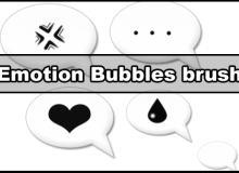 气泡式聊天提示框笔刷