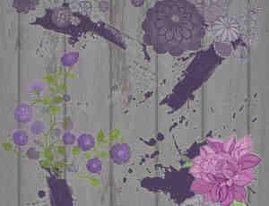 美丽的艺术花卉笔刷