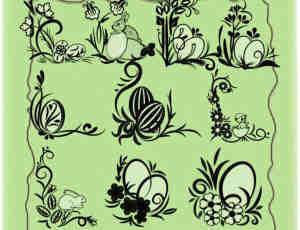 复活节专用花纹装饰艺术笔刷