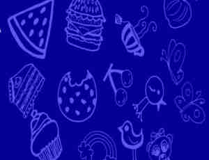 可爱卡通线条食物笔刷