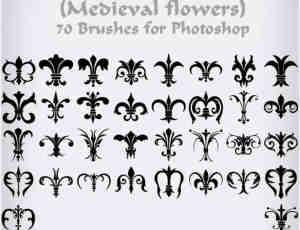 中世纪铁艺花纹笔刷