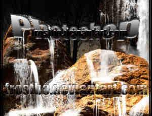 高级瀑布水流笔刷