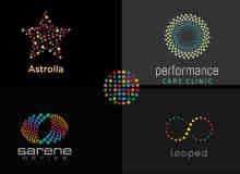 24个斑点小圆圈logo设计