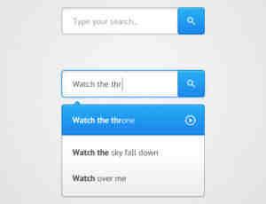 33个网页搜索框PSD素材免费下载